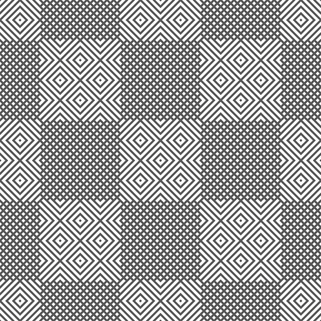 Vector seamless pattern. Modern geometrical texture with rhombuses, which form regularly repeating checkered background. Trendy design.