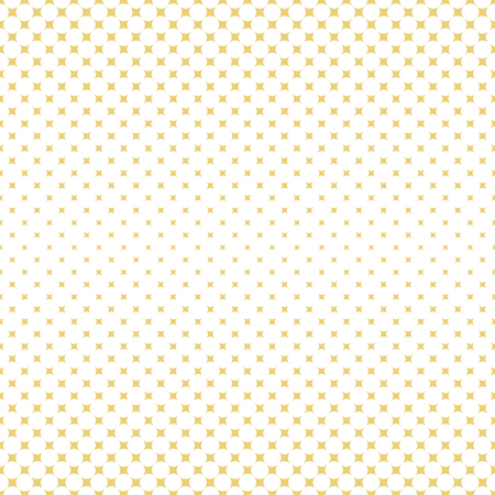 Vector seamless pattern. Abstract halftone background. Modern stylish gold texture. Repeating grid with rhombuses of the different size. Gradation from bigger to smaller. Ilustração