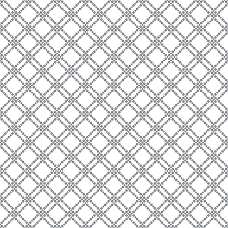 Classical stylish texture seamless pattern.  Regularly repeating elegant geometric tiles with rhombuses and dots vector element of graphical design. Illustration