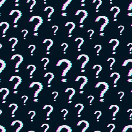 Question mark against a dark background. Stock Illustratie
