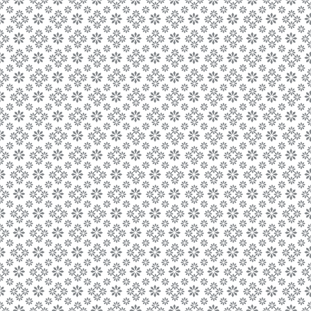 Vector seamless pattern. Abstract small textured background. Classical simple repeating geometrical texture with small flowers. Surface for wrapping paper, shirts, cloths, press. Vettoriali