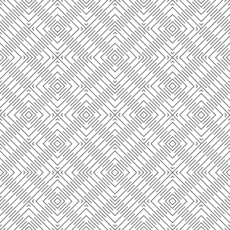 Vector seamless pattern. Abstract textured background. Modern stylish geometric texture with thin lines, which form rhombus, diamond tiles.