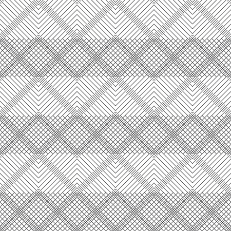 Seamless pattern.Modern stylish geometrical texture.Abstract textured background.Regularly repeating zigzag thin lines,linear rhombuses,diamonds,grids.Outline.Contour.Vector element graphical design