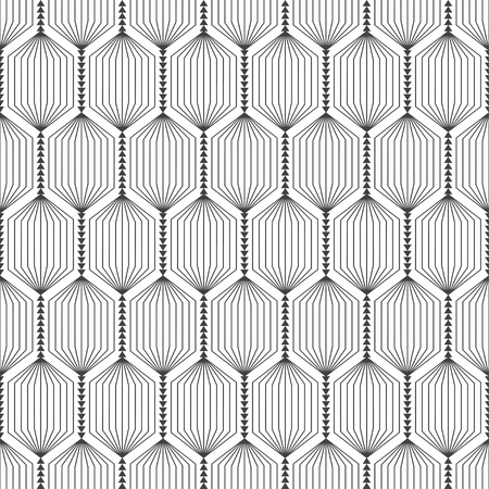 Vector seamless pattern. Abstract textured background. Modern trendy texture with regularly repeating striped hexagons, triangles. Contemporary design