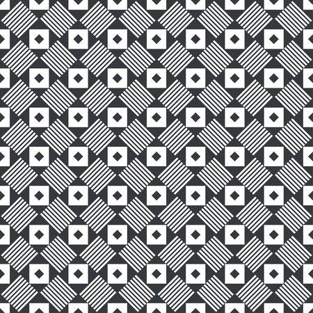 Seamless pattern. Modern stylish texture. Regularly repeating rhombuses, triangles, strips. Vector element of graphical design