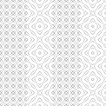 Vector seamless pattern. Modern stylish texture with regularly repetition original stars, small rhombuses, arcs. Trendy geometric abstract background. Ilustrace