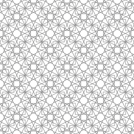Seamless pattern. Abstract geometric background. Original linear texture with repeating thin broken lines, polygons, triangles, squares, difficult polygonal shapes. Vector element graphical design