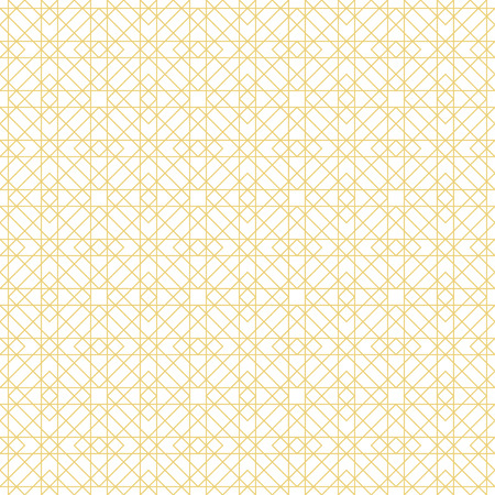 Seamless pattern. Modern stylish texture. Regularly repeating geometrical tiles with intersecting rhombuses, diamonds, thin lines, squares, triangles. Vector element of graphical design Ilustração