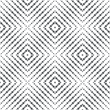 Seamless pattern. Modern stylish texture. Regularly repeating geometrical tiles with small rhombuses, dots. Vector element of graphical design Stock Illustratie