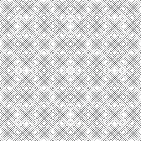 Seamless pattern. Modern stylish texture. Regularly repeating geometrical tiles with outline rhombuses, lattices. Vector element of graphical design