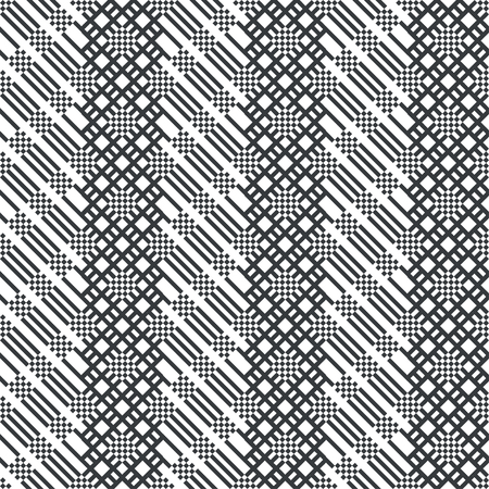 Seamless pattern. Modern stylish texture. Regularly repeating diagonal ornament with strips, rhombuses, grids. Vector element of graphical design Stock Illustratie