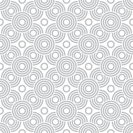 Seamless pattern. Modern stylish texture. Regularly repeating circles, dots, arcs, crosses, geometrical shapes. Vector element of graphical design Foto de archivo - 125196571