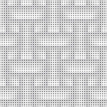 Seamless pattern.Abstract halftone background.Modern stylish texture.Regularly repeating geometric tiles with stars of different size.Gradation from smaller to bigger.Vector element of graphic design