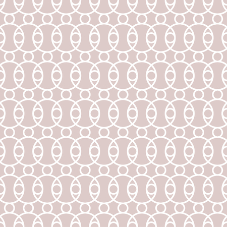 Seamless pattern. Modern stylish texture. Regularly repeating crossed circles, dots, ovals. Vector element of graphical design Stock Illustratie