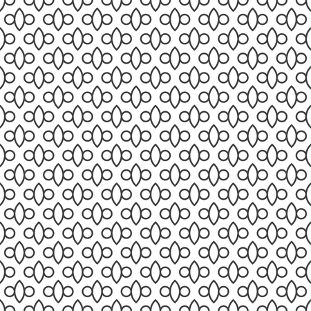 Seamless pattern. Simple classical geometrical texture. Regularly repeating ovals, circle, dots. Wrapping paper. Vector element of graphical design