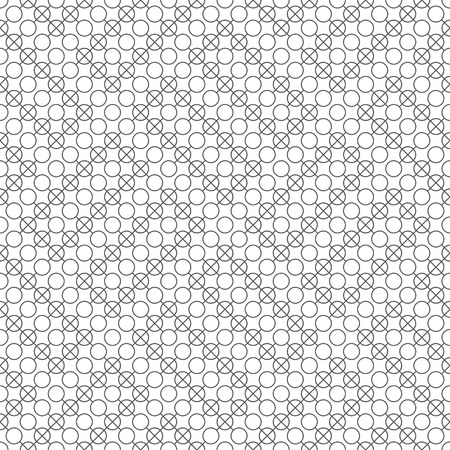 Seamless pattern. Modern stylish texture. Regularly repeating geometrical tiles with circles, crosses. Vector element of graphical design Çizim