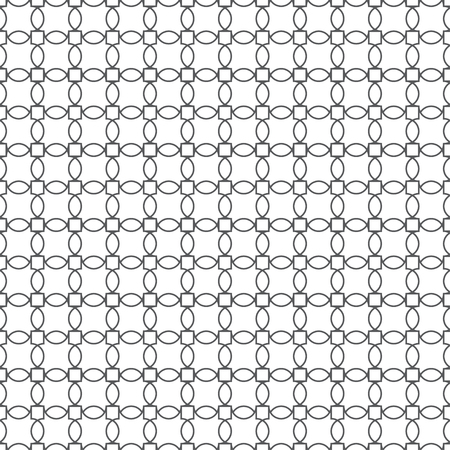 Seamless pattern. Modern stylish texture. Regularly repeating geometrical tiles with ovals, squares. Vector element of graphical design