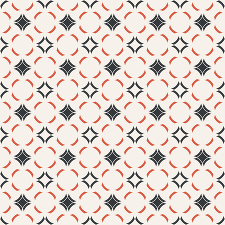 Vector seamless pattern. Abstract small textured background. Classical simple geometrical texture with repeating rhombuses, arcs. Surface for wrapping paper, shirts, cloths, press. Stock fotó - 124748060