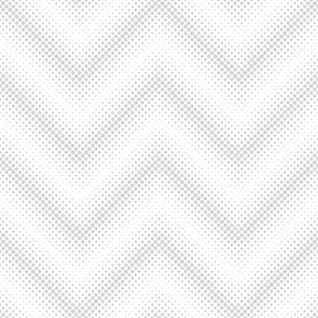 Seamless pattern.Infinitely repeating stylish modern texture consisting of dots of the different size which form geometrcial zigzag dotted shapes with halftone effect. Gradation from bigger to smaller Illustration