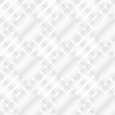Vector seamless pattern. Infinitely repeating stylish modern texture consisting of dots of the different size which form geometrcial tiles with dotted rhombuses with halftone effect. Stock fotó - 124748062