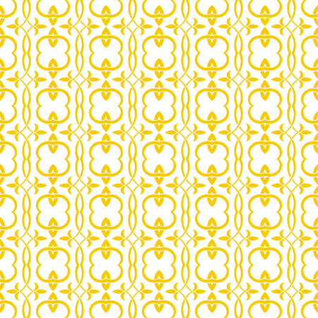Seamless pattern. Simple elegant texture with original flowers. Pattern can be used as a background, wallpaper, wrapper, page fill, print, element of decoration. Ilustração