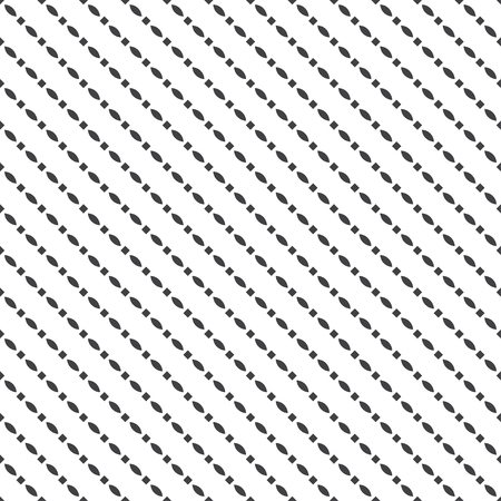 Seamless pattern. Simple geometrical texture. Regularly repeating diagonal shapes with ovals, rhombuses. Vector element of graphical design