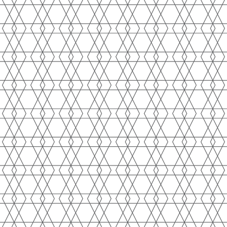 Seamless pattern. Modern geometrical texture with thin lines. Regularly repeating intersecting linear rhombus diamond shapes. Vector element of graphical design