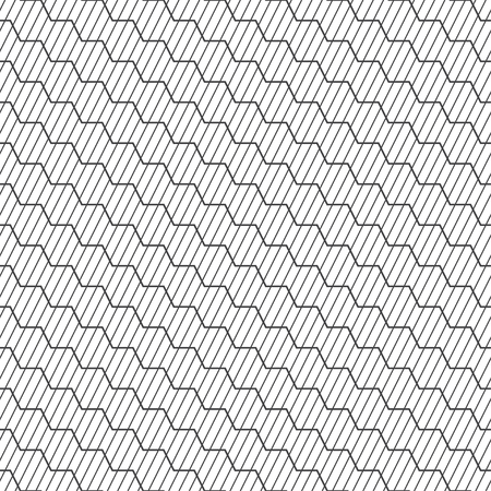 Seamless pattern. Modern elegant geometrical texture. Regularly repeating diagonal thin lines, zigzag lines. Outline. Contour. Vector element of graphical design