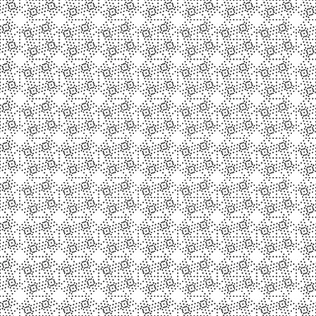 Seamless pattern. Abstract small dotted textured background. Modern stylish texture. Regularly repeating geometrical tiles with dots, dotted rhombuses, crosses. Vector element of graphical design