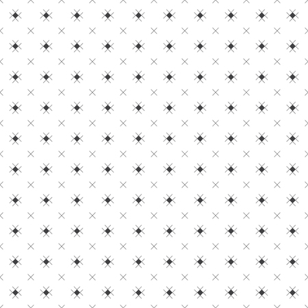 Seamless pattern. Abstract small textured surface. Minimal classic texture with periodic repeating thin line crosses and rhombuses. Vector element of graphical design
