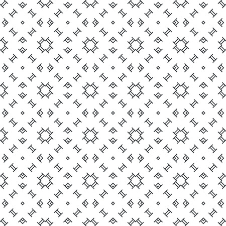 Seamless pattern. Abstract small textured surface. Minimal classic texture with periodic repeating geometrical shapes. Vector element of graphical design  イラスト・ベクター素材