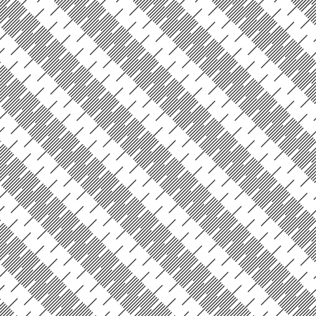 Seamless pattern. Modern stylish texture. Regularly repeating diagonal geometrical ornament with thin lines. Trendy linear abstract background. Vector element of graphical design  イラスト・ベクター素材