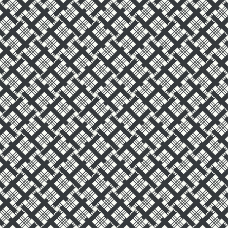 Seamless pattern. Modern stylish texture. Regularly repeating geometrical tiles with outline rhombuses, linear lattices, crossed strips. Vector element of graphical design Stock fotó - 124312847