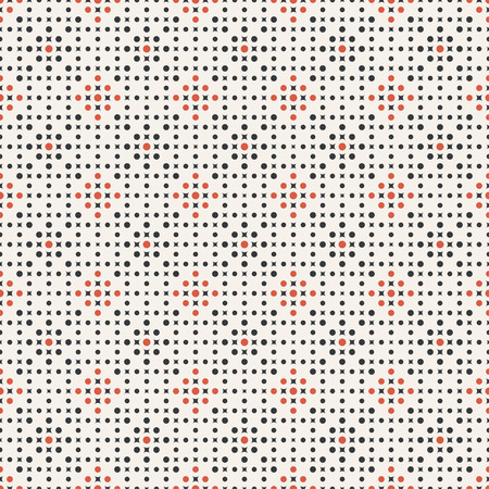 Seamless pattern. Abstract small textured background. Classical simple geometrical texture with repeating dots, rhombuses. Surface for wrapping paper, shirts, cloths.Vector element of graphical design