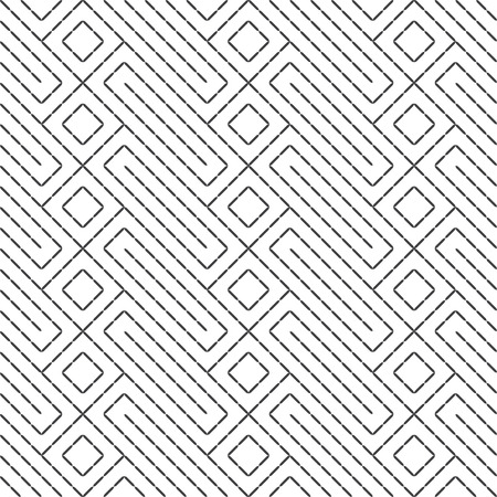 Seamless pattern. Modern stylish texture. Regularly repeating geometrical ornament with rhombuses, diamonds, rectangle shapes. Vector element of graphical design