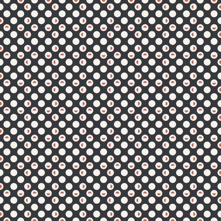 Seamless pattern. Infinitely repeating geometrical ornament consisting of dots, circle, semicircles. Modern stylish texture. Abstract small dotted background. Vector element of graphical design Stock fotó - 124089138