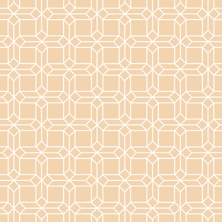 Seamless pattern. Modern stylish texture. Regularly repeating geometrical linear ornament with octagons, hexagons, squares, rhombuses. Vector element of graphical design