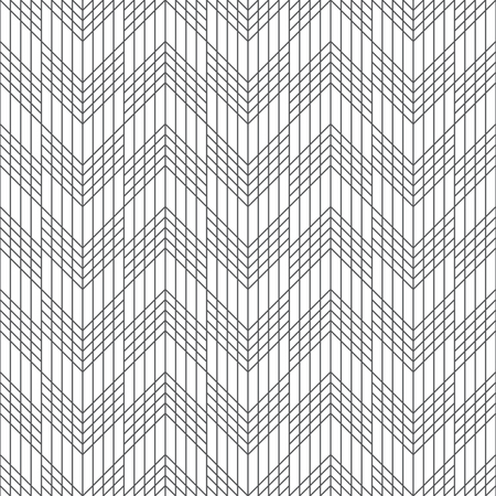 Seamless pattern. Modern stylish geometrical texture in the form of waves. Regularly repeating linear zigzag shapes. Abstract textured background. Vector element of graphical design Stock fotó - 124089141