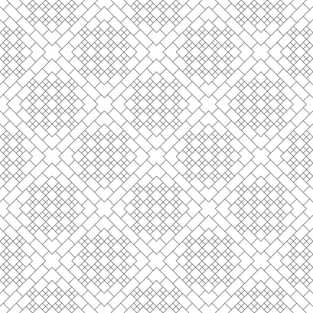 Seamless pattern.Modern stylish texture.Regularly repeating geometrical ornament with thin lines rhombus tiles, crosses, rectangles.Trendy linear abstract background.Vector element of graphical design Illusztráció