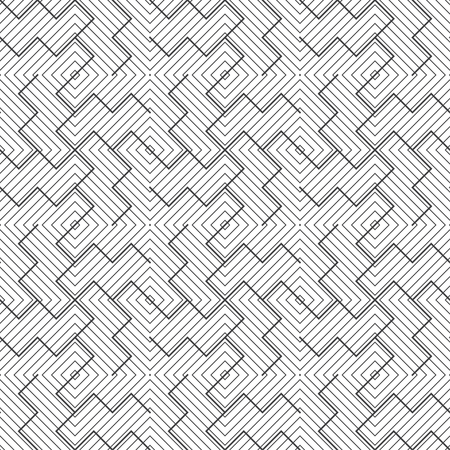 Seamless pattern.Modern stylish texture.Regularly repeating geometrical ornament with thin lines rhombus tiles,curved broken strips.Trendy linear abstract background.Vector element of graphical design Stock fotó - 123982835