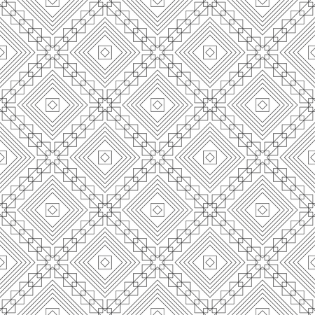 Seamless pattern.Modern stylish texture.Regularly repeating geometrical tiles with linear rhombuses, crossed squares.Trendy linear abstract background.Vector element of graphical design Stock fotó - 123982839