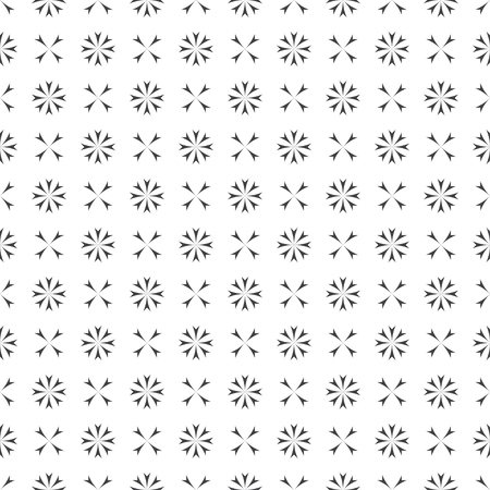 Vector seamless pattern. Abstract small textured background. Classical stylish repeating geometrical texture with repetition flower shapes, crosses. Surface for wrapping paper, shirts, cloths. Illusztráció