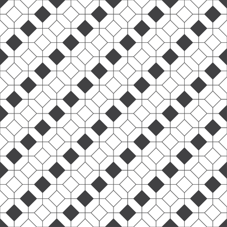 Seamless pattern. Modern stylish geometrical texture. Regularly repeating linear rhombuses, hexagons, octagons. Thin line. Vector element of graphical design