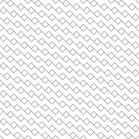 Seamless pattern. Modern stylish texture. Regularly repeating inclined zigzag form with thin lines, outline rhombuses. Trendy linear abstract background. Vector element of graphical design