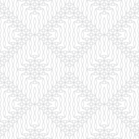 Seamless pattern. Modern stylish texture. Regularly repeating geometrical tiles with rhombuses, stars. Monochrome. Gray. White. Vector element of graphical design Stock fotó - 123674131