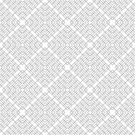 Seamless pattern. Modern elegant texture. Regularly repeating traditional geometrical tiles with rhombuses, diamonds, rectangle shapes. Thin line. Vector element of graphical design Illusztráció