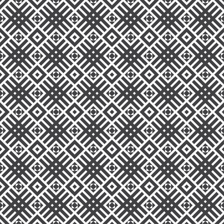 Seamless pattern. Modern stylish texture. Regularly repeating geometrical tiles with rhombuses, diamonds, crossed strips, small triangles.