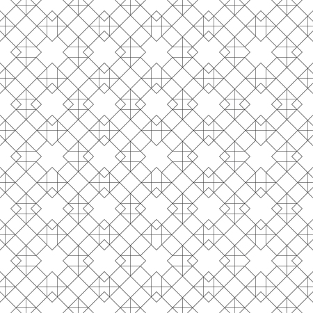 Seamless pattern. Modern elegant texture. Regularly repeating traditional geometrical tiles with rhombuses, diamonds, crosses, triangles.