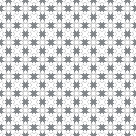 Seamless pattern. Modern simple texture. Regularly repeating geometrical ornament with linear rhombuses, diamonds, squares, triangles, stars.