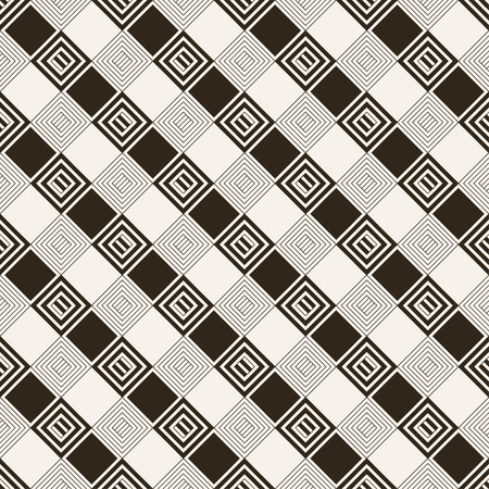Seamless pattern. Classical stylish texture with rhombuses and diamonds which form regularly repeating tiled checkered surface. Plaid geometric background.